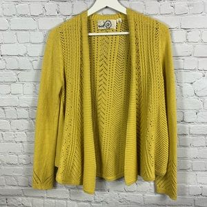 Rosie Neira sunshine yellow open front cardigan